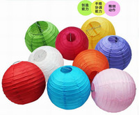 Lantern art class - 8 inches cm Colorful Handmade circular Chinese Paper Lanterns For art class creative painting lantern DL7