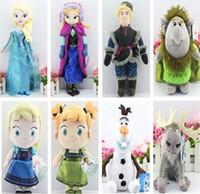 Wholesale 8pcs set Frozen Anna Elsa Olaf Kristiff Trolls Sven Plush Doll Toys Binnquedols cm christmas gift