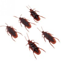 Wholesale 1pc Realistic Plastic Toys Cockroach Roach Scary Bug Party Play Halloween Holiday Decoration