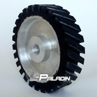 belt grinders - 200 mm Diagonal Rubber Wheel Belt Grinder Polisher Contact Wheel for Sanding Belts