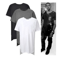 Wholesale Long High Low Tee New Fashion Hip Hop Man Summer Tops T shirt T Shirt Men Tyga Swag Clothing Clothes Kanye West