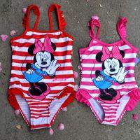Wholesale 2015 New Lovely cartoon years baby girl swimwear Kid Beach girls bathing suits Fashion One Piece Princess kids swimsuit