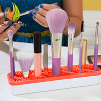 Silicone asia free - Newest hot selling unique quirky cosmetics Cosmetic Makeup Organizer silicone base to hold the tweezers and blush brushes free DHL