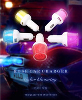 bullets - Light Rose Port Dual USB Car Charger Adapter A A Bullet Car Charger for iphone plus USB Car Charger Power Charging Adapter