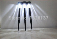 Cheap 10PCS New Waterproof Outdoor Solar Power Lawn Lamps LED Spot Light  Garden Path Plastic Small Solar Lamps