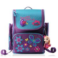 best book printing - high quality butterfly backpacks children orthopedic school bags for girls waterproof nylon book bag Russia best selling schoolbag