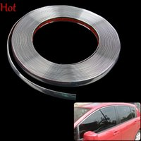 Wholesale DIY Car Decals Fashion x15M Decorative Ribbon Roll Sticker Diy Car Decoration Trim Line Chrome Plated Adornment Car Stickers Silver