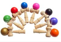Wholesale Free New Big size cm Kendama Ball Japanese Traditional Wood Game Toy Education Gift Children toys colors JIA594