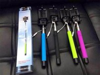 Wholesale Monopod Extendable Self Timer Handheld With Cable Z07 plus With Groove Cable Take Pole Monopod selfie stick For Iphone Samsung s5