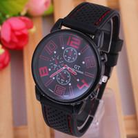 Wholesale GENEVA series fashion simple silicone watchband men table fashion men s fashion watch GT Sports Watch