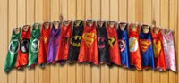 Wholesale Superhero Cape cloak chlid Halloween Costumes Batman Superman Spiderman Princess Fancy Dress COSPLAY Teenage Theme Cartoon costume Clothing