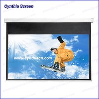 automatic gain - High Gain HD Fabric D K Automatic Electric Projector Screens Fixed Motorized Projector Screen With Remote Control