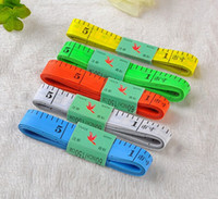 Wholesale Cool Random Color M Body Tape Measure Length Cm Soft Ruler Sewing Tailor Measuring Ruler Tool Kids Cloth Rule