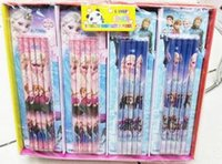 Wholesale 2014 Frozen Newly Listed Frozen Pencils Princess Elsa Anna Olaf