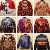 atomic hoodie - New Spring Men Women D Animal Sport T Shirt Long Sleeve KFC Atomic bomb Strawberry Fudge Angel wings Printed Hoodies Tops