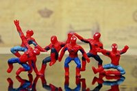 Wholesale New Spider Man Toys Styles Cartoon Action Figures Small Cheap Spiderman PVC Toys