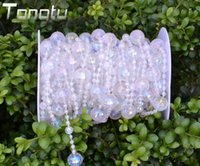 beads string curtain - 50ft Wedding curtain acrylic Crystal Curtain Transparent wire bead Wedding strings for Wedding Decorations shipping free