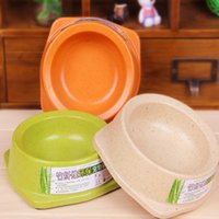 bamboo dog bowls - New Arrival Durable Lovely Pets Bamboo Material Bowl Feed Drinking Bowl For Small Dog Cat Animal