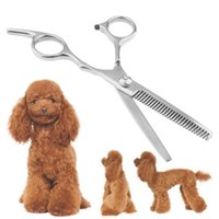 Wholesale 1PC New Pet Grooming Scissor Dog Cat Silver Stainless Steel Hair Thining Shear