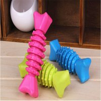 alternative toys - 12cm wing bone shaped dog chew toy dog teeeth grinding tool colors alternative pets accessories