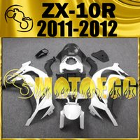 Wholesale Five Gifts Motoegg Hotsell Injection Mold Fairings For Kawasaki Ninja ZX R ZX R ZX10R Body Kit Black White K19M19