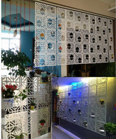 Wholesale Fashion Hanging Screen With Tray Brief modern cutout curtains House Decoration