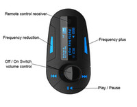 3 colori Car Kit di musica MP3 Player Wireless FM Transmitter Radio modulatore Con Remote DHL di controllo USB SD MMC +