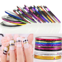 Wholesale 2mm mm Fashion Color Rolls Striping Tape Line Nail Art Decoration Sticker Multi Colors Nail Art Nail Patterns Highlight Nail Wraps Sticker