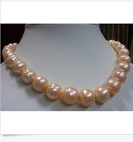 Wholesale 2015 new HOT MM South Sea Pink Baroque Pearl Necklace quot k GOLD CLASP