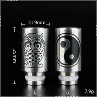 bears eagles - Eagle and Gossip Metal Dip tips Stainless Steel Drip tip Mouthpieces Wide Bore Drip Tip for E Cigarette RDA Atomizer DHL Free