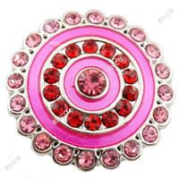 Wholesale D010026 heart glass button rivca stass metal jewelry snap button for bracelet