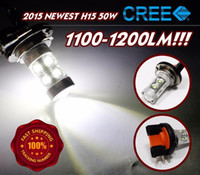 accent tops - Xenon White W High Power H15 Genuine Top CREE LED Bulbs For Daytime Running Lights Bulbs lm lm