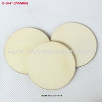 Wholesale mm Natural unfinished large circle wood disk cutouts rustic wooden disc wedding crafts embellishment quot CT1118 order lt no t