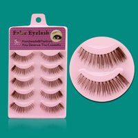 best natural looking false eyelashes - Best Looking Natural Design False Eyelashes Brown Color Fake Eyelash Extension Cilios Posticos F14