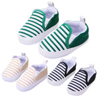 Wholesale Hot Sale Pair Colors M Kids Baby Soft Bottom Walking Shoes Boy Girl Striped Anti Slip Sneakers with