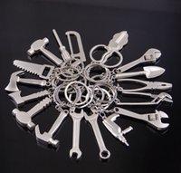 al por mayor herramientas pendientes de metal-Nuevo llavero de moda encantadora metal novedad ajustable creativo llave herramienta llave inglesa herramientas Anillo llavero llavero
