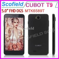 "Cheap Wholesale - 5"" CUBOT T9 FHD OGS Screen Android Cell Phone Quad Core MTK6589T 1.5Ghz 1GB RAM 16GB ROM 13.0MP Camera 1920*1080 Pixels Android"