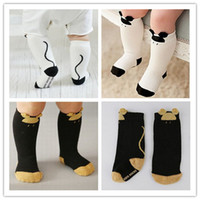 Wholesale Non slip Kids Lovely D Cartoon Animal long socks Baby Boy Girl Leg Warmers stocking Cotton ear warm socks