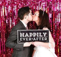 photo glass - 100cm cm multicolor New Photo Booth Prop DIY photo background Wedding Party Photobooth