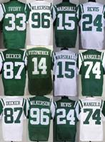 Wholesale 2016 Men s NY Jets Ryan Fitzpatrick Brandon Marshall Darrelle Revis Chris Ivory Stitched Eric Decker Jerseys