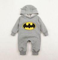 batman designer - Hot Sale Designer Autumn Winter New Cotton Girls Boys Rompers Baby Batman Cute Rompers Infant Jumpsuits YAZ002