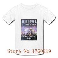 Cheap summer style KILLERS LIVE GREATEST HITS Man T-Shirt Good Quality Cotton O Neck Men t Shirt Top Tees Sport Shirt