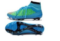 Wholesale Discount Soccer Shoes Magista Obra FG ACC Football Shoes Men Soccer Cleats TPU Football Boots Outdoors Ball Sports Shoes Hi Cut Athletics