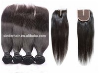 Wholesale 6A virgin brazilian human hair natural color brazilian hair bundles with lace closure by DHL and Fedex