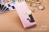 Wholesale 2015 Promotion Purse Women Wallets New Women s Cute Kittens Three fold Wallet Card Package Phone Manufacturers Spot