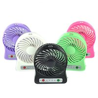 Wholesale Portable Mini Multifunctional Fans Strong Wind Desk Fan with Battery mAh charging Mini Fan For Outdoor Camping Kids student Hiking