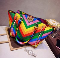 Totes colorful handbags - Hot Sell women Colorful Shoulder bags Totes bags new handbag bag women Classic New Fashion bags