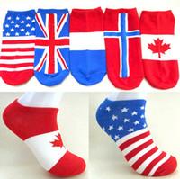 cheap socks - 2015 Cheap Men s national flag style socks summer stealth ship socks for Men Australian Norway CW17