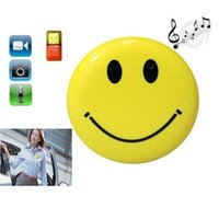 Wholesale 10pcs Cute Hook Smile Face MP3 Player with Clip Mini DV Hidden Car DVR Spy Camera Digital Video Recorder Hidden HD Pin Pinhole Camera