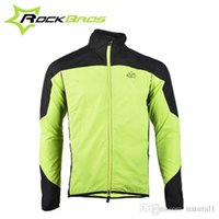 Wholesale ROCKBROS Tour de France Cycling Sports Men s Riding Breathable Reflective Jersey Cycle Clothing Long Sleeve Wind Coat Jacket Color